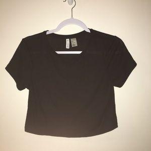 H&M cute black simple crop top